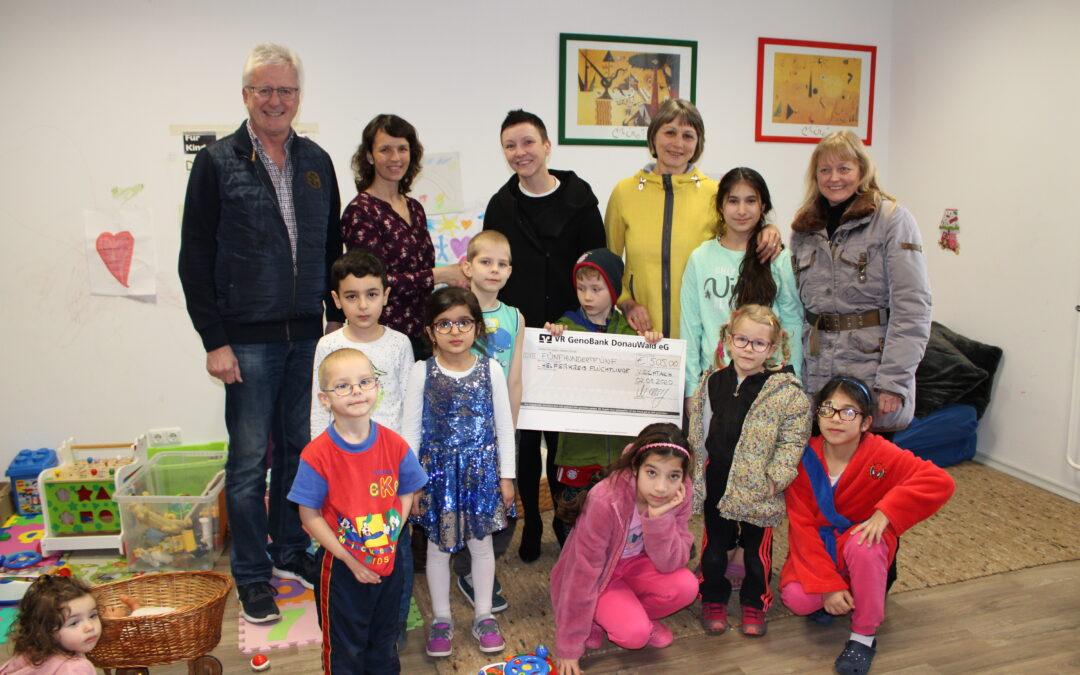 Spende für geflüchtete Kinder in Viechtach
